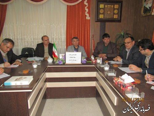 شانزدهمین جلسه ستاد انتخابات شهرستان گمیشان برگزار شد