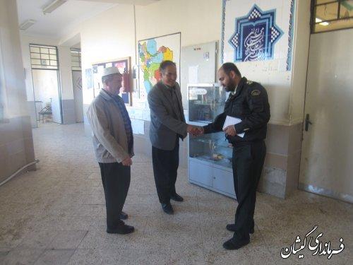 بررسی امکانات محل شعب اخذ رای در سیمین شهر و روستاهای بخش گلدشت