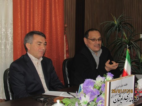 جلسه تعیین اعضای شعب اخذ رای انتخابات شهرستان گمیشان برگزار شد