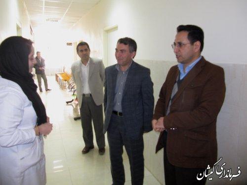 حضور فرماندارگمیشان در مرکز بهداشت شهرستان و تبریک روز پرستار