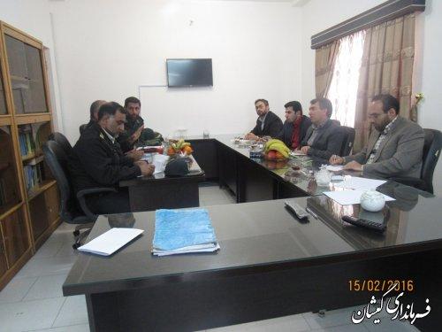 جلسه ستاد پیشگیری از جرایم و تخلفات انتخاباتی شهرستان گمیشان برگزار شد