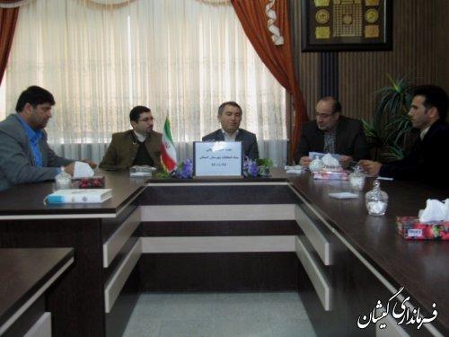 جلسه کمیته پشتیبانی ستاد انتخابات شهرستان گمیشان برگزار شد