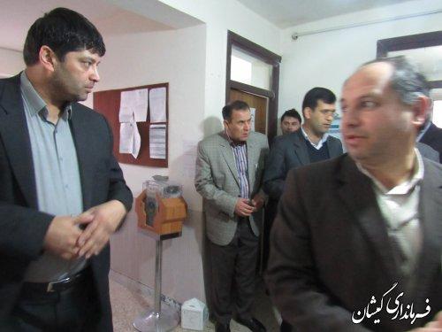 صندوق های شعب اخذ رای به نمایندگان بخشدار گلدشت تحویل داده شد