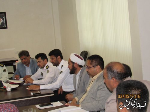 جلسه برداشت محصولات کشاورزی شهرستان گمیشان برگزار شد