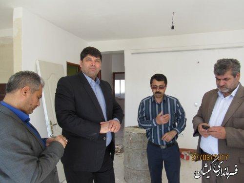 بازدید فرماندار گمیشان از پروژه 9 واحدی تحت پوشش بهزیستی دارای 2معلول مسکن مهر گمیشان
