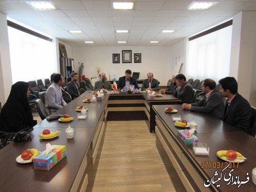 دیدار مدیر عامل شرکت آب منطقه ای استان با فرماندار گمیشان