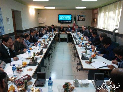 حضور فرماندار گمیشان در جلسه استانی هماهنگی نکوداشت شاعر شهیر ترکمن مختومقلی فراغی