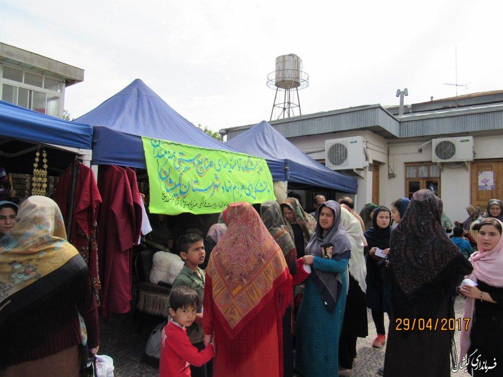برگزاری نمایشگاه از توانمندهای صنایع دستی هنرمندان شهرستان گمیشان
