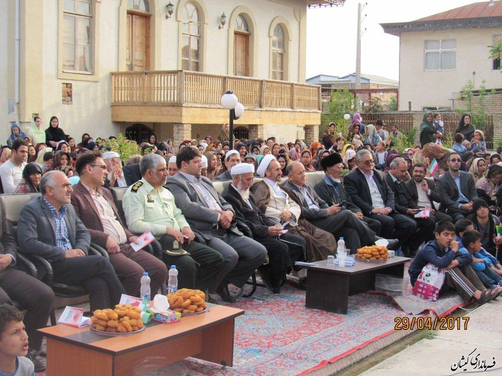 حضور مسئولین در مراسم بزرگداشت مختومقلی فراغی در گمیشان