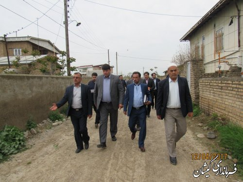 بازدید فرماندار گمیشان از روستاهای قلعه حاجی گلدیخان و قلعه گمش تپه