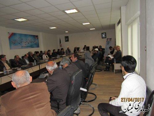 نشست آموزشی و توجیهی نمایندگان فرماندار شعبات اخذ رای گمیشان برگزار شد