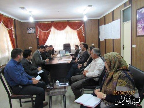 سیزدهمین جلسه ستاد انتخابات شهرستان گمیشان برگزار شد