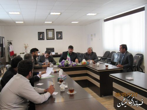 جلسه کمیته حقوقی ستاد انتخابات شهرستان گمیشان برگزار شد