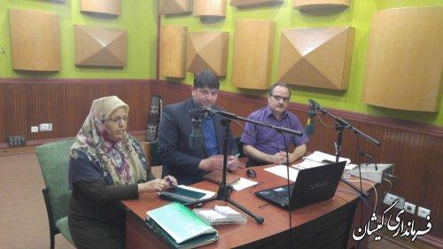فرماندار گمیشان در برنامه رادیویی ساریان اولکام و گامی دیگر حضور یافت
