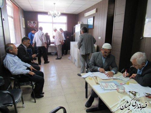 آماده سازی صندوق شعبات اخذ رای بخش گلدشت