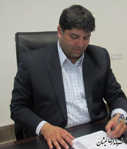 فرماندار گمیشان با صدور پیامی از حضور حماسی مردم شهرستان در انتخابات تقدیر کرد