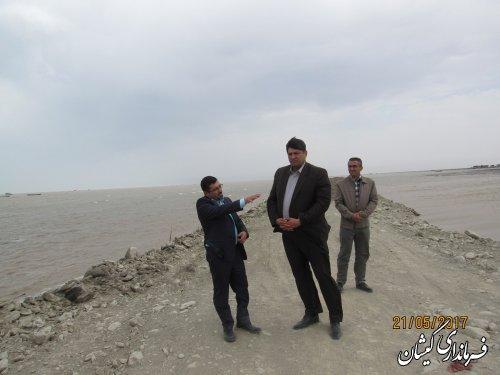 بازدید فرماندار گمیشان از عملیات احداث و زیرسازی جاده سواحل چارقلی و توماجلر چارقلی