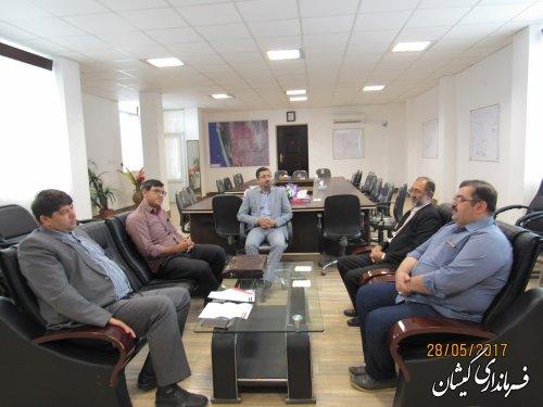 دیدار نمایندگان انجمن بیماران خاص و سرطانی استان با فرماندار گمیشان