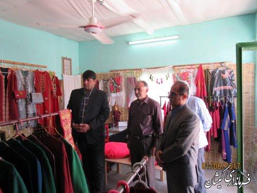 بازدید فرماندار گمیشان از شرکت تعاونی صنایع دستی گل بهار
