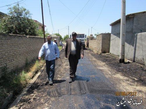 بازدید فرماندار از اجرای آسفالت معابر سیمین شهر
