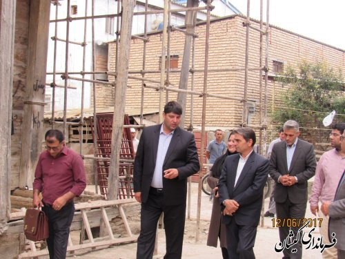 بازدید فرماندار گمیشان از اجرای مرمت و بازسازی خانه های تاریخی
