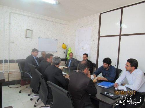 جلسه بررسی وضعیت برق شهرستان گمیشان