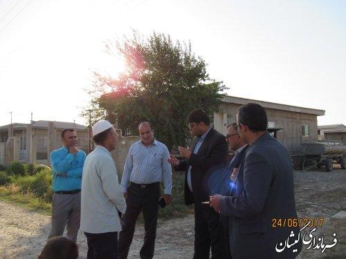 بازدید فرماندار گمیشان از وضعیت آب شرب روستاهای مرزی شهرستان