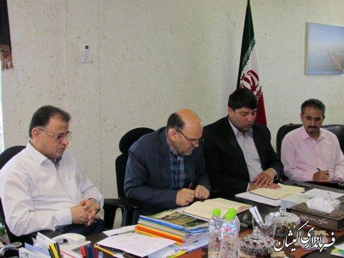 حضور فرماندار گمیشان در جلسه ستاد ساماندهی سواحل استان