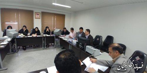 جلسه هم اندیشی پروژه های مهم و زیربنایی شهرستان گمیشان برگزار شد