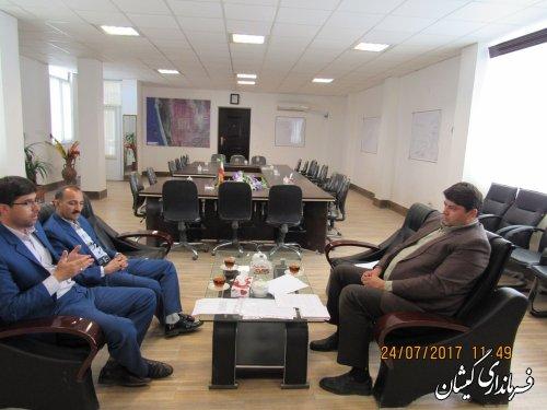 دیدار معاون اعتبارات صندوق کارآفرینی امید استان با فرماندار گمیشان
