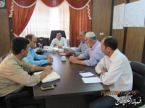 جلسه هماهنگی  زهکشی اراضی سطح شهرستان برگزار شد