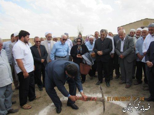 مراسم کلنگ زنی مدرسه 6 کلاسه روستای آرخ بزرگ برگزار شد