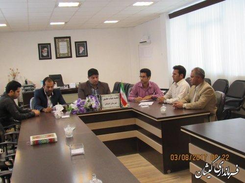 جلسه کمیته انطباق مصوبات شوراهای شهر شهرستان گمیشان برگزار شد