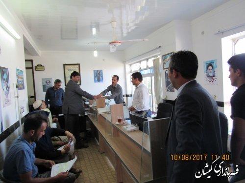 بازدید فرماندار گمیشان از امور مالیاتی شهرستان