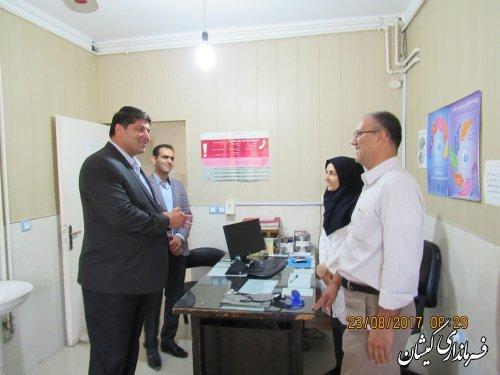 فرماندار گمیشان با پزشکان مستقر در مرکز بهداشت و درمان دیدار کرد