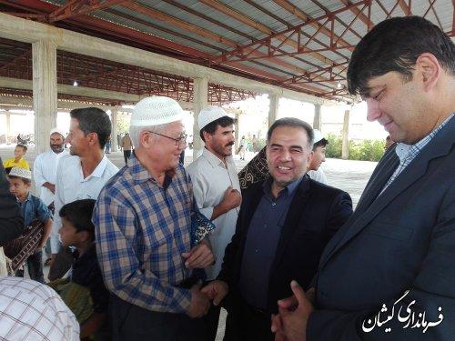 حضور فرماندار گمیشان در جمع مردم سیمین شهر