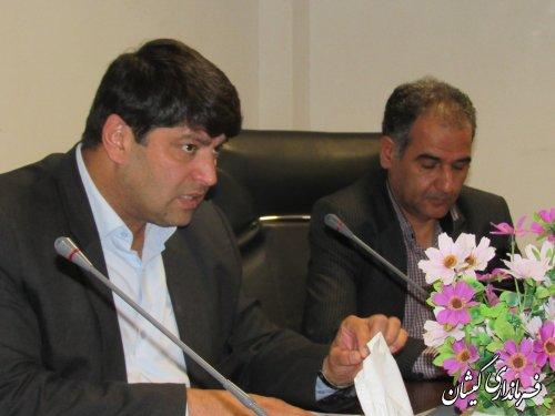 جلسه هماهنگی اجرای پروژه جی نف و سیماک در گمیشان برگزار شد