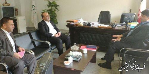 دیدار فرماندار گمیشان با مدیر کل دفتر امور روستایی و شوراهای استانداری
