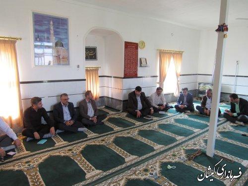 بازدید فرماندار گمیشان از روستای قلعه جیق کوچک بخش مرکزی شهرستان