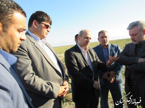 بازدید استاندار گلستان از شهرک صنعتی (تخصصی شیلات) گمیشان