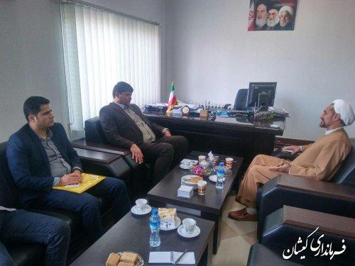 دیدار فرماندار گمیشان با مدیر کل فرهنگ و ارشاد اسلامی استان