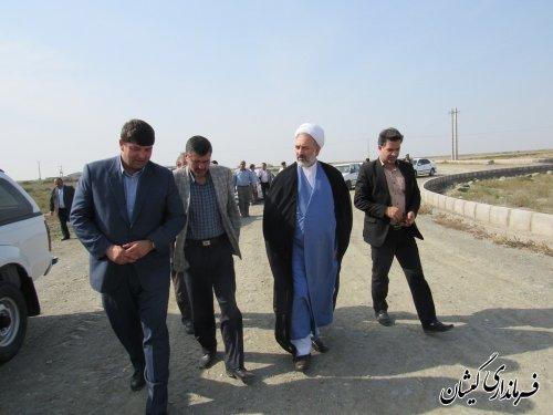 بازدید فرماندار و روسای سازمان بازرسی و جهاد کشاورزی استان از شهرک صنعتی گمیشان