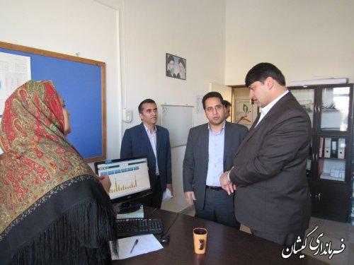 بازدید فرماندار گمیشان از شبکه بهداشت و درمان شهرستان