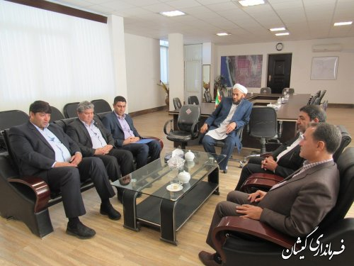 دیدار مدیریت شعب بانک سپه استان با فرماندار گمیشان