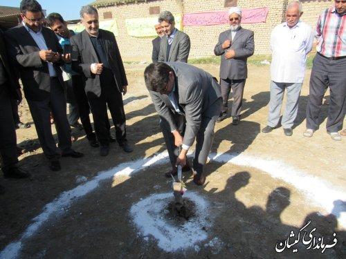 مراسم کلنگ زنی مدرسه 4 کلاسه آتا توماج روستای توماجلر چارقلی شهرستان برگزار شد