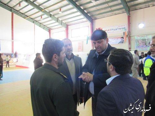 بازدید فرماندار گمیشان از بیمارستان صحرایی شهرستان