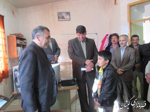 بازدید فرماندار گمیشان از مدارس روستاهای نوار مرزی شهرستان