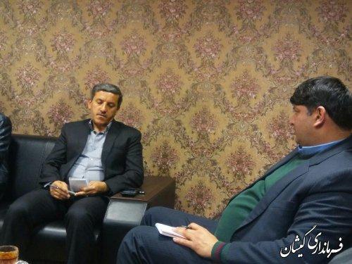 دیدار فرماندار گمیشان با مدیر صندوق کارافرینی امید استان