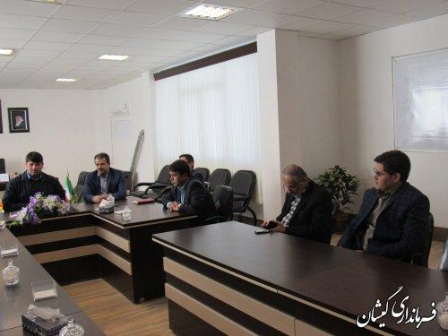 جلسه بررسی و تعیین مکان استقرار اداره ثبت اسناد و املاک شهرستان گمیشان