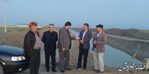 بازدید فرماندار گمیشان و رئیس سازمان جهاد کشاورزی از مزارع سطح شهرستان